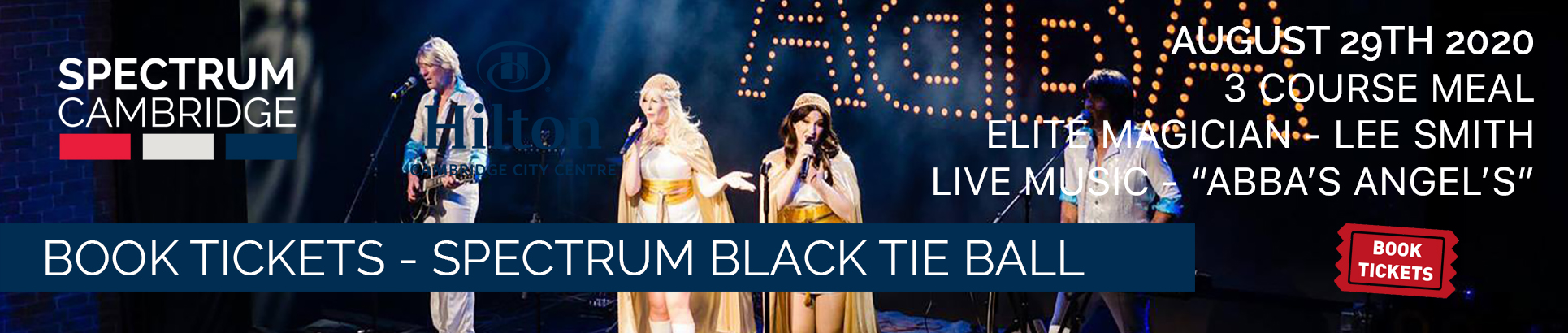 Buy Tickets for the Spectrum Cambridge Black Tie Ball